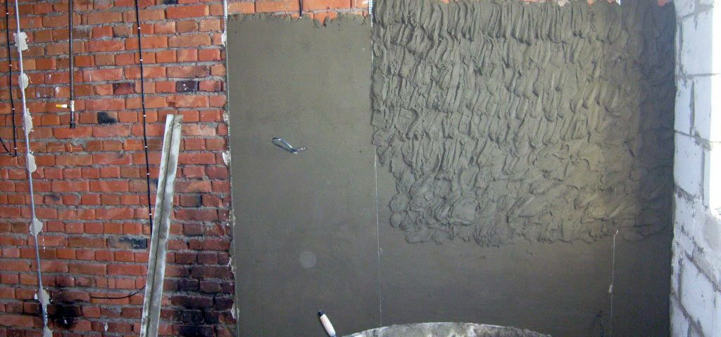 Выравнивание стен штукатуркой по маякам и геометрии, углы 90 град. Ремонт квартир Минск