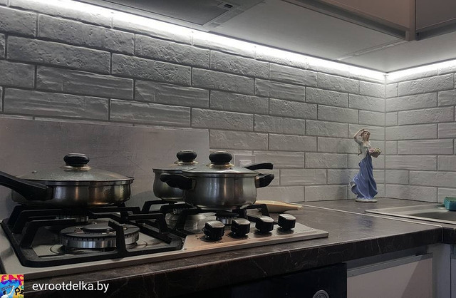 На фото пример ремонта на кухне, ул.Волоха 17 Ремонт квартир Минск