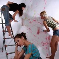 Окраска стен...