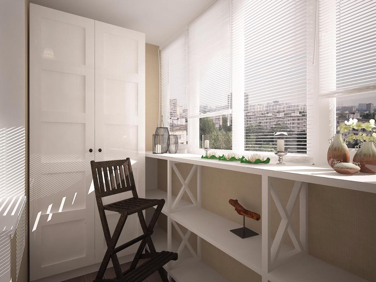 Дизайн интерьера балкона и лоджии