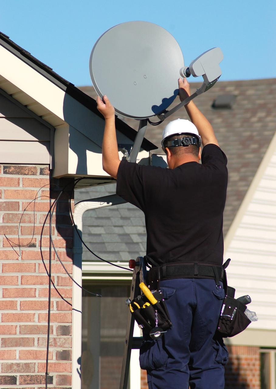 Установка спутниковых антен