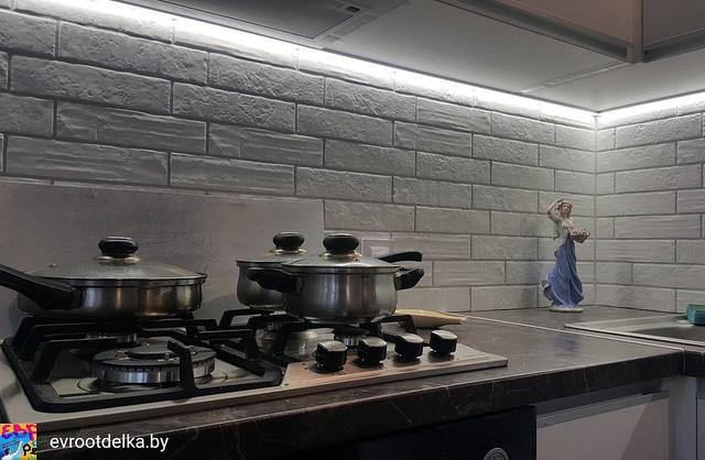 На фото пример ремонта на кухне, ул.Волоха 17