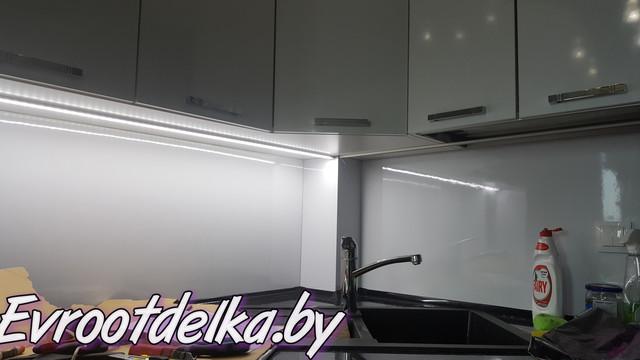 подсветка рабочей зоны кухни в Луговой Слободе